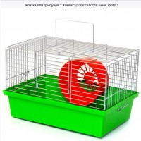 Клетка для грызунов Хомяк (330х230х220) цинк