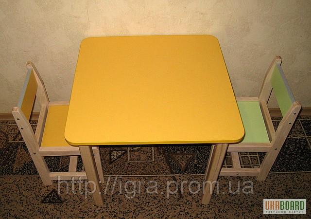 Столы и стулья для детского сада: бабья лавка.
