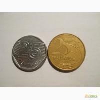 Бразилия-25 центаво (2 разные)
