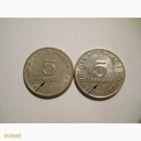 Греция-5 драхм (2 разные)