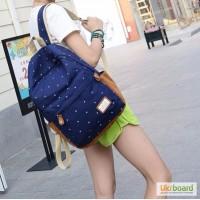 Школьный рюкзак с принтом в горошек