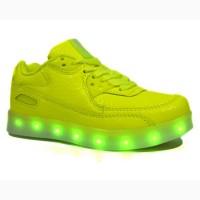 Кроссовки Clibee арт.К158 yellow neon - led подсветка с 28-35 р