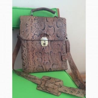 f7dc24b12c14 Продам сумку органайзер для документов (унисекс) ручной работы с кожи  африканского питона. 6000 грн