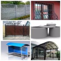 Ворота, калитки, навесы, еврозабор бетонный забор