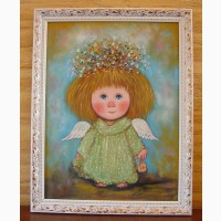 Картины маслом солнечный ангел