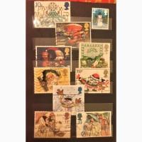 Рождество и Новый год почтовые марки Великобритании