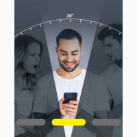 Защитное стекло Анти-шпион STR Privacy 3D Full-Screen для iPhone Xs Max/11/12 Pro Max
