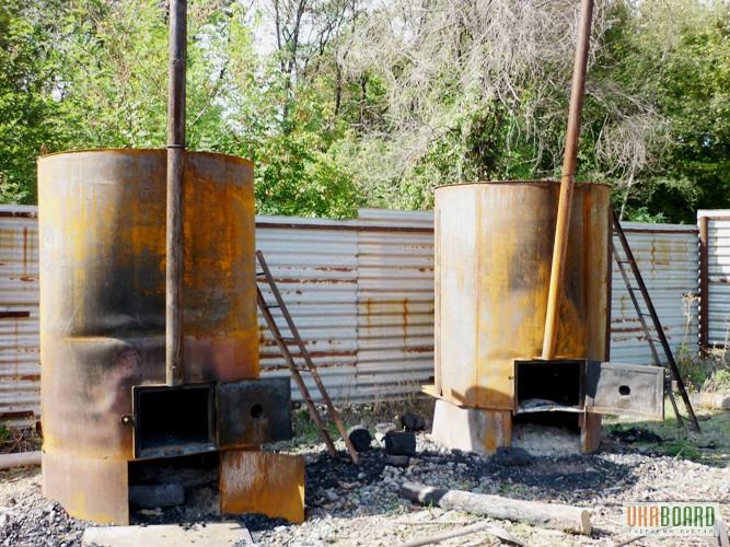 Печь для пиролиза древесины