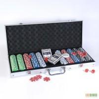Покер, Покерный набор в металлическом кейсе 500 фишек