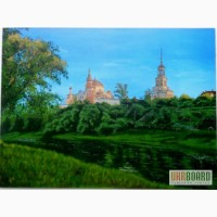 Картина Монастырь холст, масло, 40х60 см.