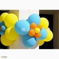 Украшение шарами, свадебное оформление шариками, арка из шаров, сердечки