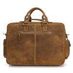 Продается эксклюзивная большая мужская кожаная сумка, винтажная лошадиная кожа, светлая