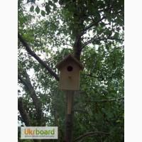 Деревянный синичник для птиц