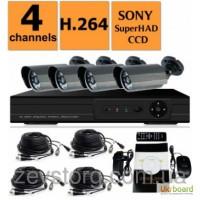 Комплект видеонаблюдения, 4-канальный Full D1