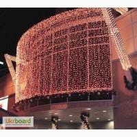 Гирлянда светодиодный дождь 1х6 метра, новогодняя подсветка