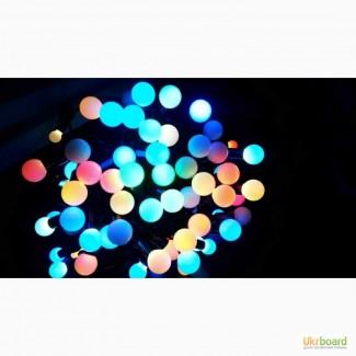 Светодиодная гирлянда шарики 23 мм