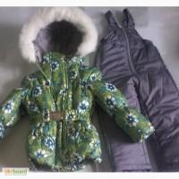 Детские зимние цветные комбинезоны-тройка для девочек 1-5 лет оптом и в розницу