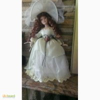 Кукла коллекционная, фарфор. старая
