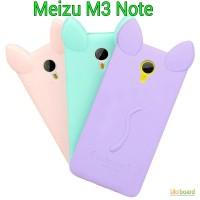 Силиконовый чехол на Meizu M3 note Котик
