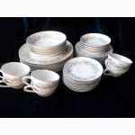 Японский фарфор старой работы Sango (комплект посуды). Конец 70-х годов