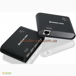4-портовый USB 2.0 удлинитель на 60 м по витой паре Iogear GUCE64