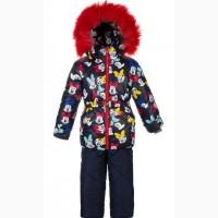 Детские зимние тёплые комбинезоны для девочек 1-5 лет