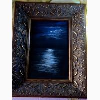 Картина автора Лунная дорожка-пастель, 30х20