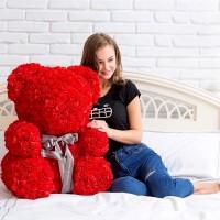 Медведи из фоамирановых 3D роз оптом