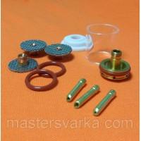Комплект для TIG-сварки со увеличенным прозрачным соплом Pyrex и газовой линзой MEGAFLO