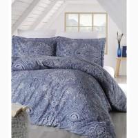 Постельное белье Altinbasak сатин люкс easter mavi 200×220 Турция