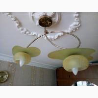 Люстра на 2 лампы, -600грн