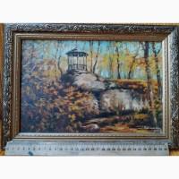 Картина ручная работа рисованая маслом, пейзаж