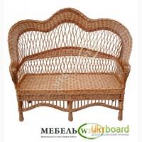 Изготовление плетеной мебели, Скамейка Развернутая