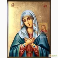 Рукописная Икона Божьей Матери «Умиление»