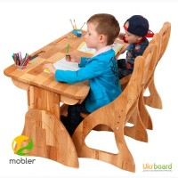 Школьная парта Моблер детям от 2-х лет до 18 деревянная