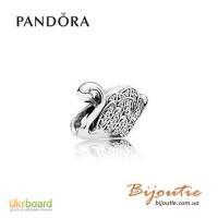 Оригинал PANDORA шарм 8213; царевна-лебедь 791732CZ