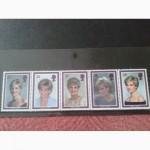 Буклет 1961-1997г.г. Принцесса Диана. 5 марок - сцепка