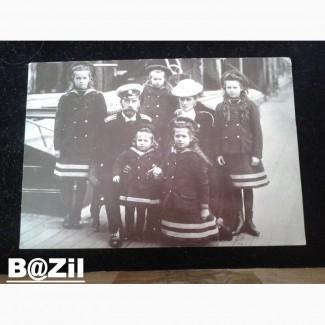 Император Николай !! с семьей. Фото с выставки. Париж 1996г. Оригинал