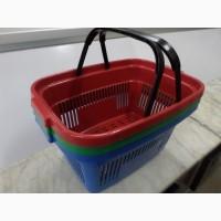 Корзинки пластиковые покупательские 22 л. корзинки для супермаркета