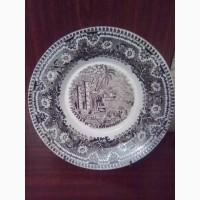 Расписная тарелка фирмы Кузнецова