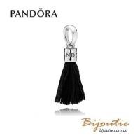 PANDORA шарм-подвеска ― черные кисти 797212CBK Оригинал