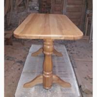 Стол обеденный из массива ольхи лак