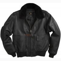 Шкіряна льотна куртка G-1 Leather Jacket (чорна)