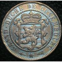Люксембург 10 сантимов 1854 РЕДКИЙ ГОД В СОХРАНЕ