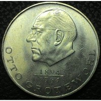 Германия 20 марок, 1973 год Отто Гротеволь