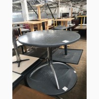 Продам бу круглый стол верзалит хромированная нога