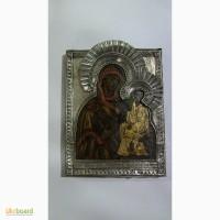 Продам старую икону с серебрянным окладом