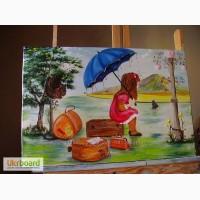 Картина маслом На пероні 40х60