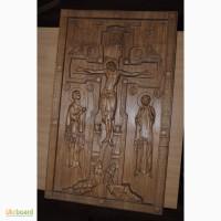 Продам картину (икону), выполненную на 3D-фрезерном станке (материал-дерево(ясень)