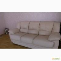 Продам комплект кожаной мебели( диван+ 2 кресла)